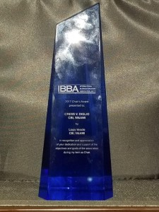 Cress V Diglio Chairmans Award IBBA